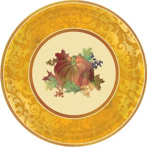 Bountiful Holiday Dinner Plates 8ct