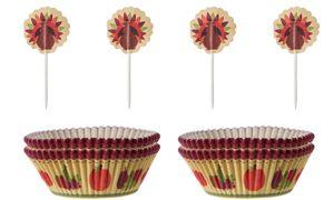 Thanksgiving Cupcake Decorating Kit for 24