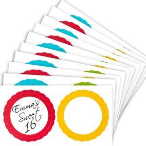 Rainbow Favor Sticker Labels 20ct