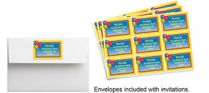 Custom Balloons & Stripes Sticker
