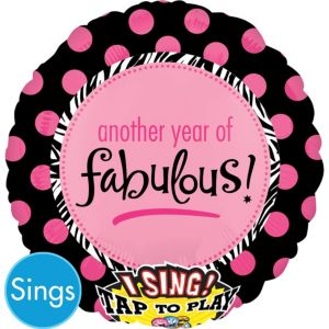 Happy Birthday Balloon - Singing Another Year of Fabulous