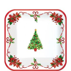 Traditional Christmas Dessert Plates 40ct