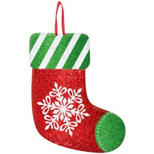 Glitter Holiday Stocking Sign