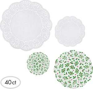 Holly Round Doilies 40ct