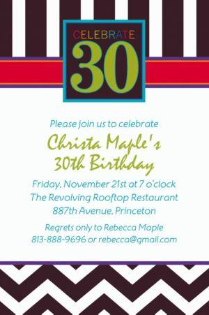 Custom 30th Celebration Invitations