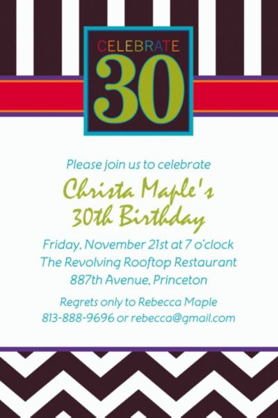 Custom 30th Celebration Invitations