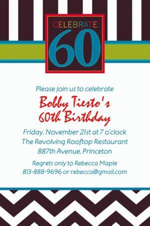 Custom 60th Celebration Invitations