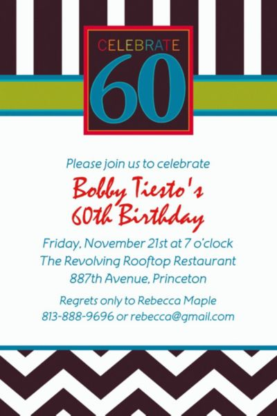 Custom 60th Celebration Invitations