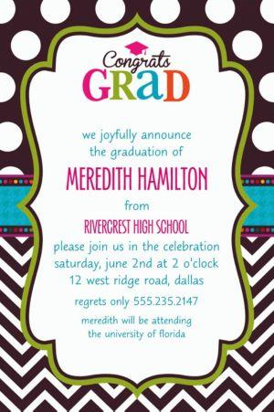 Custom Bright Congrats Grad Invitations