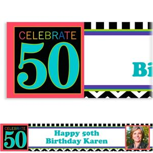 Custom 50th Celebration Photo Banner 6ft