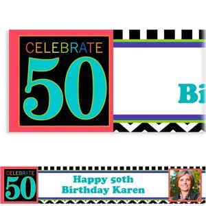 Custom 50th Celebration Photo Banner 6ft