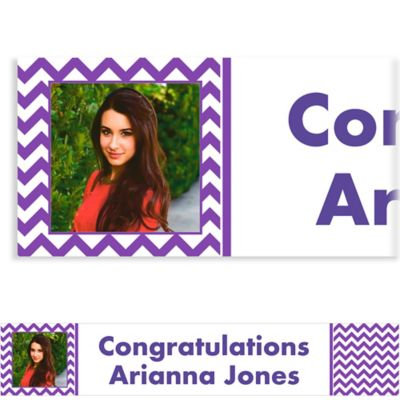 Purple Chevron Custom Photo Banner
