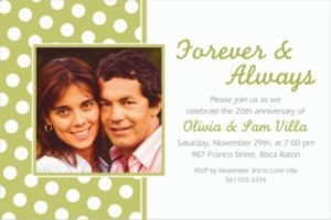Custom Leaf Green Polka Dot Photo Invitations