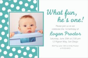 Custom Robin's Egg Blue Polka Dot Photo Invitations