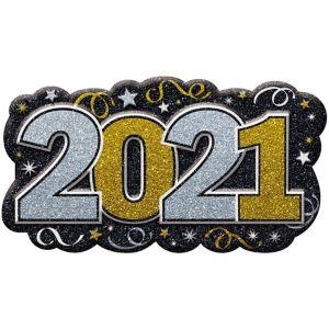 Glitter Black, Gold & Silver 2016 Sign