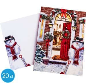 Snowman's Greetings Greeting Cards 20ct