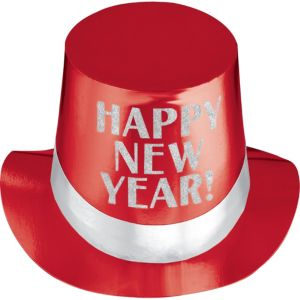 Red New Year's Top Hat