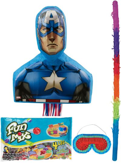 Pull String Captain America Pinata Kit