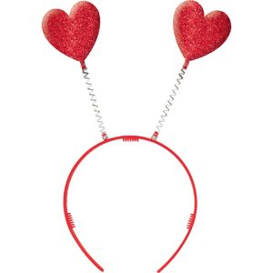 Red Glitter Heart Head Bopper