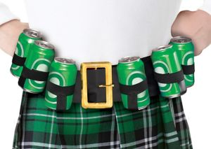 St. Patrick's Day Drinking Belt