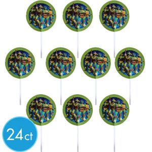 Wilton Teenage Mutant Ninja Turtles Fun Picks 24ct
