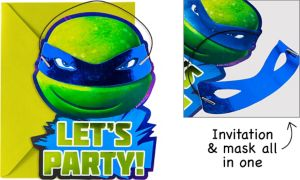 Premium Teenage Mutant Ninja Turtles Invitations 8ct