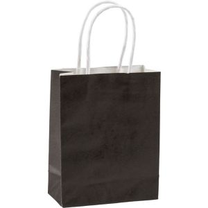Medium Black Kraft Bags 10ct
