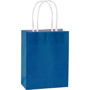 Medium Royal Blue Kraft Bags 10ct