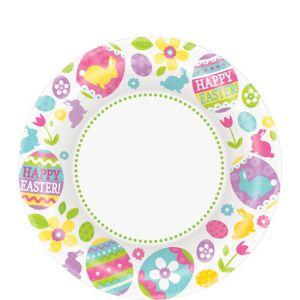 Easter Egg Hunt Dessert Plates 40ct