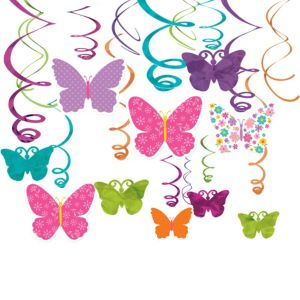 Butterfly Swirl Decorations 30ct