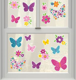 Spring Cling Decals 19ct