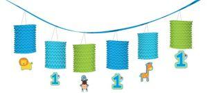 Wild at One Boy's 1st Birthday Paper Lantern Garland