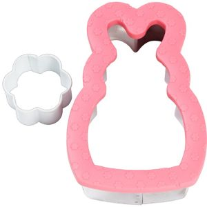 Comfort-Grip Bunny Cookie Cutter Set 2pc