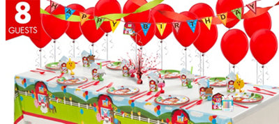 Farmhouse Fun 1st BirthdayParty Supplies Super Party Kit