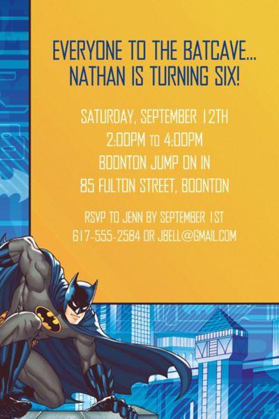Custom Batman Invitations