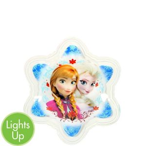 Yazzles Light-Up Anna & Elsa Snowflake Sticker Badge - Frozen