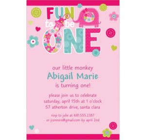 Custom One Wild Girl Invitations