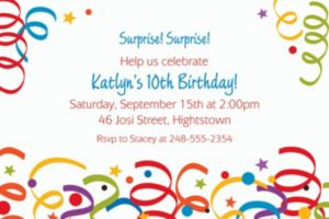 Custom Colorful Birthday Invitations