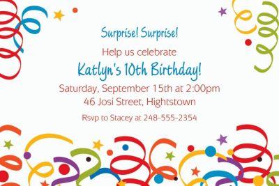 Colorful Birthday Custom Invitation