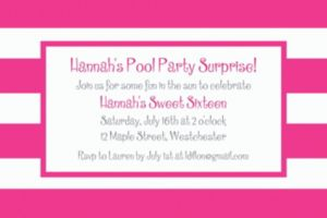 Custom Pink Cabana Stripe Invitations