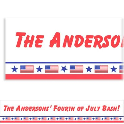 Custom Patriotic Party Banner 6ft