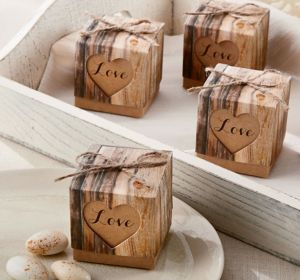 Rustic Tree Favor Boxes