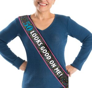 50th Birthday Sash