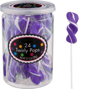 Purple Twirly Lollipops 24pc