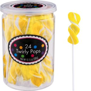 Twirly Yellow Lollipops 24pc