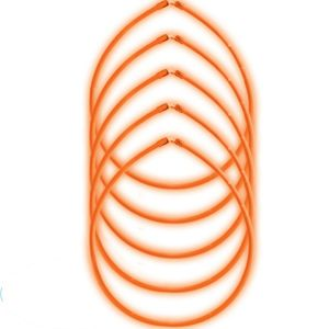Orange Glow Sticks 5ct