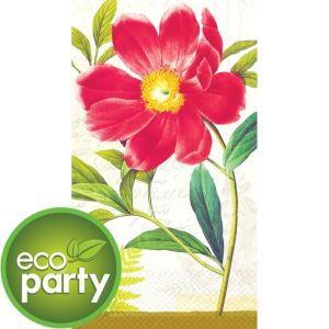 Eco-Friendly Botanical Peony Guest Towels 16ct