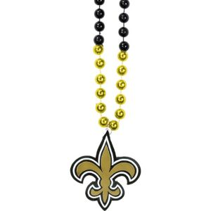 New Orleans Saints Pendant Bead Necklace