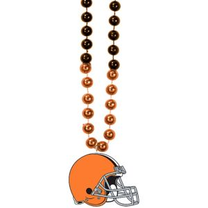 Cleveland Browns Pendant Bead Necklace