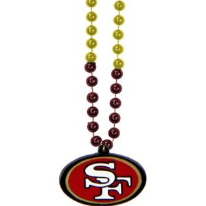 San Francisco 49ers Pendant Bead Necklace